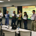 Participants do a workflow activity during the I-Corps@UM-CTSI short course that took place from May to June. Photo by Dr. Suhrud Rajguru