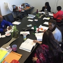 CHWs working with the Student Handbook, FL Dept of Health, Tallahassee, April 25, 2017.